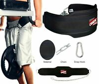 Dipping & Pull Up Weight Belt With Chain Gym Fitness back Support Dip/Dips/Ups
