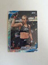 2019 Topps UFC Chrome Knockout #UFCK-JJ Joanna Jedrzejczyk Wave Refractor /99