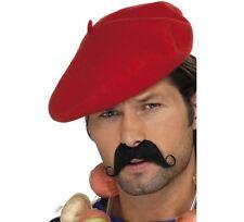 BASCO ROSSO IN PANNO Carnevale Accessori Cappello Berretto Francese 33404