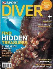 Sport Diver magazine Hidden treasures Photo tips Wet suits Top dive operators