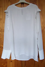 New Sweewe Paris Size L Top Long Sleeve Blouse Ivory
