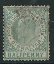 n089) Gibraltar. 1904/08. Used.  SG 56 1/2d Dull & bright green
