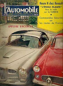 L'AUTOMOBILE 123 1956 FACEL VEGA FORD THUNDERBIRD RENAULT ETOILE FILANTE GP BELG