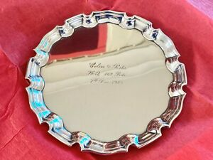 Sterling Silver Waiter - Card Tray - Cohen & Charles - London - 1940