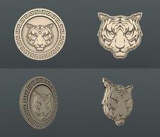 3d STL models for CNC, Artcam, Aspire, relief Tiger1