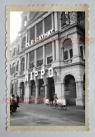 OLD CATHAY NIPPO TRISHAW QUEEN'S ROAD STREET Vintage HONG KONG Photo 18374 香港旧照片