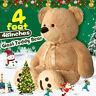"48"" Giant Plush Teddy Bear Huge Stuffed Animal Toy Doll Valentine Christmas Gift"