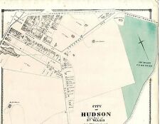 Map of East part 3rd Ward of Hudson New York, from 1873 Atlas of Columbia County