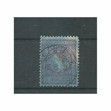 Ned. Indie 60B  Wilhelmina 11x11,5  VFU/gebr  CV 10 €