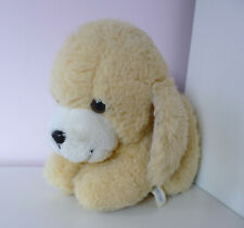 "Vintage Mothercare Puppy Dog Soft Plush Stuffed Toy 10"" Cream Yellow 0348"