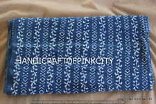 5 Yards Craft Damask Printed Indigo Fabric Dabu Print Fabric Indian Fabric SSTH0