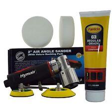 """75 mm (3 """") Mini da Pulidor De Aire + Kit 400g Farecla G3 Y 2 mezclado de compuestos de espuma Jefes"""