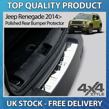JEEP RENEGADE 2014+ POLISHED CHROME STAINLESS STEEL REAR BUMPER PROTECTOR COVER