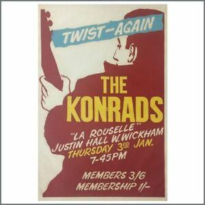 David Bowie The Konrads 1963 Concert Poster (UK)