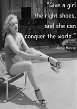 Marilyn Monroe Quote The Right Shoes Stretched Canvas Model Poster Art Print