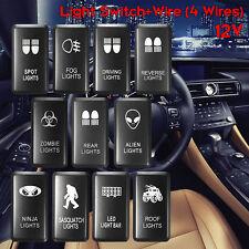 12V Whiite LED Fog Light Bar Switch For Toyota Landcruiser Hilux Prado FJ CRUISE