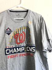 2019 Chicago Cubs Baseball MLB World Series T-Shirt, Grey Fanatics XL New W/ Tag