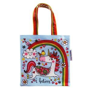Einhorn Und Regenbogen Mini Tragetasche Frühstückstasche Von Rachel Ellen -
