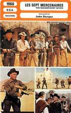 FICHE CINEMA : LES SEPT MERCENAIRES - Brynner,McQueen 1960 The Magnificent Seven