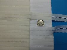 """Swiss Lace Entredeux/100% Cotton 3/8"""" Selvage Edge/White, Ivory/Hand or Machine"""