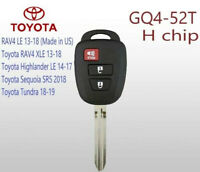 2013-2016 Toyota RAV4 Remote Head Key 3Btn - FCC: GQ4-52T  H Chip