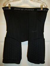 "Nike Pro Dri-Fit Men'S Padded Football Shorts Xl Black 14"" Inseam"