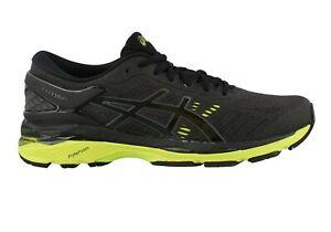 Asics Men's Gel Kayano 24 Running Shoes NEW AUTHENTIC Black/Green T749N-9085