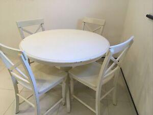 Cream Round Dining Table