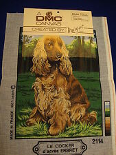 Needlepoint Canvas:  Cocker Spaniel, 14 mesh 9 x 12 in.