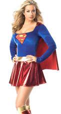 Womens Superwoman Super Hero Fancy Dress Costume Size 8 - 14