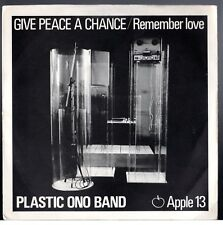 """Beatles (John) """"Give Peace..."""" 1969 UK Apple Stock Copy 45 w/ Picture Sleeve"""