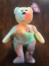 Rare . TY Original 1996 Beanie Baby Peace Bear. (4 Th  5 Th Gen) PVC B25