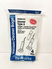 Hoover Type A Vacuum Bags Vacmaster New - 4 in package
