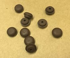 "10 Piano Cabinet Rubber Buttons/Bumpers, Brown, 9/16"" diameter"