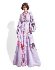 Embroidered purple dress boho style -ukrainian folk ethnic vyshyvanka. All sizes