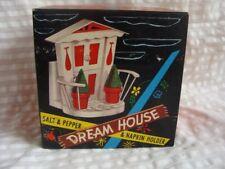 Vintage Kitsch Plastic New in Box Dream House Shakers & Napkin Holder Set