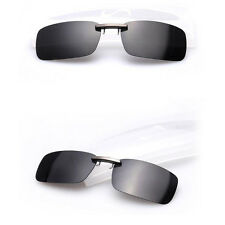 Lens UV400 Sunglasses Polarized Clip On Flip-up Driving Glasses Day Night Vision