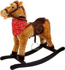 Cavallo a Dondolo in Peluche e Legno con Suoni per Bambini Kidfun