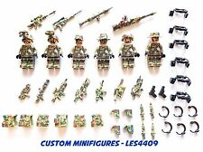 6pc Army | Military | SWAT | WWII Soldier Custom Minifigure + FREE LEGO BRICK UK