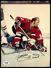 BOBBY HULL HOF CHICAGO BLACK HAWKS AUTOGRAPH AUTO SIGNED 8X10 PIC PSA DNA