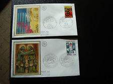 FRANCE - 2 enveloppes 1er jour 1976 (communication-verdun) (cy19) french