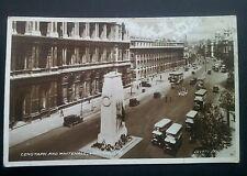 Pre WW2 Cenotaph & Whitehall London Vintage Valentine's RP Postcard Dated 1936