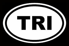 Triathlon Sticker Ironman White Oval Window Decal Vinyl Car Laptop Run Marathon