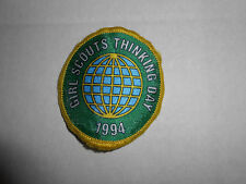 """Vintage 1994 """"Thinking Day"""" Girl Scout Cookies Patch 2.25"""""""