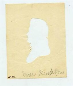Peale's Museum Hollow Cut Silhouette of a Man 1800's