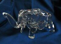 Vtg Tiara Indiana Clear Glass Elephant Covered Candy Dish * Vanity Trinket Box