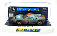 Scalextric C4104 Ford GT40 Gulf #9 Weathered 24 Hours Le Mans 1968 1/32 Slot Car