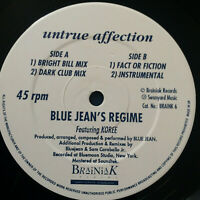 "Bluejeans Regime ‎– Untrue Affection 1990 UK Vinyl 12"" Single Braink06  UNPLAYED"