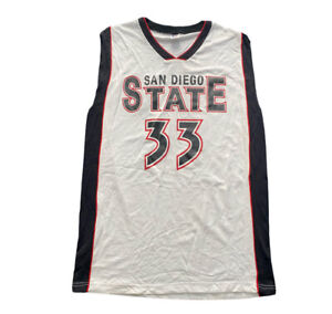 RUSSELL ATHLETIC SAN DIEGO STATE SDSU 33 Aztecs BASKETBALL JERSEY NCAA Adult 44