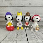 Vintage McDonalds Happy Meal Snoopy Toys x4  2000 - Rare collection set snoopy